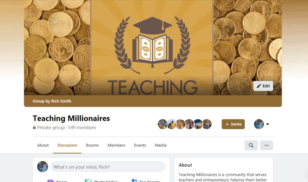 Teaching Millionaires Facebook Group